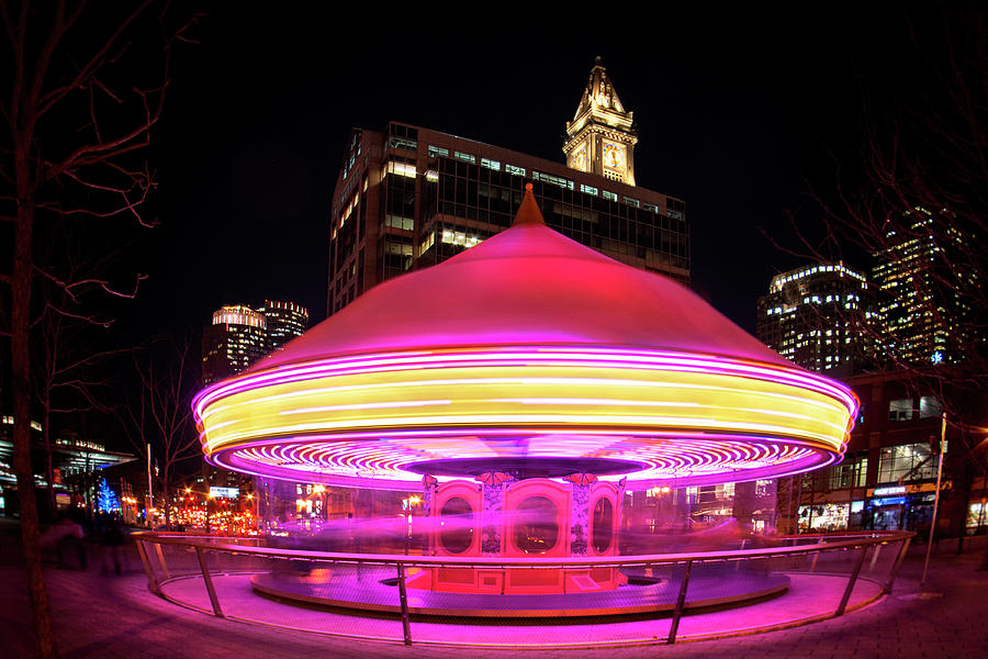 Greenway Carousel - Boston Quincy Market by Joann Vitali