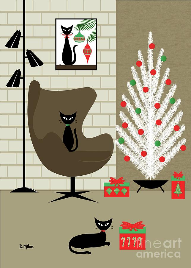 Greeting Card Mid Century Modern Christmas by Donna Mibus