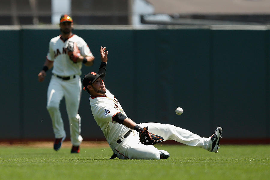 Gregor Blanco and Billy Burns Photograph by Lachlan Cunningham