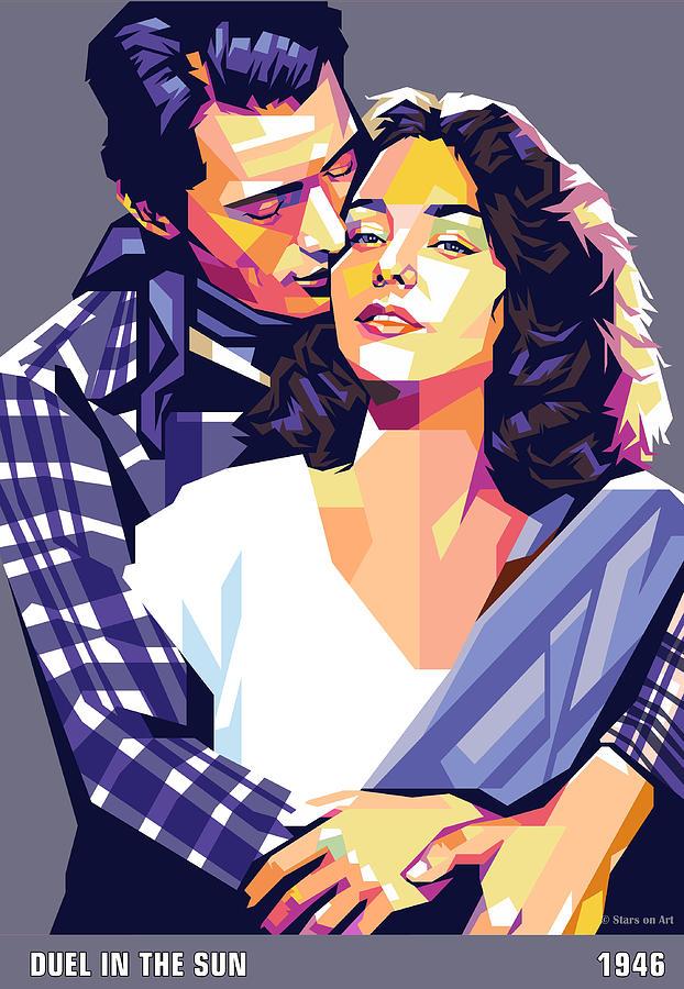 Gregory Peck and Jennifer Jones by Stars on Art