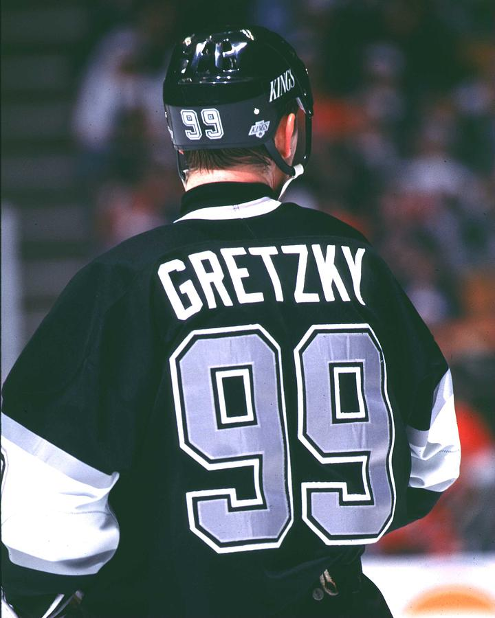 Gretzky back Photograph by J Leary