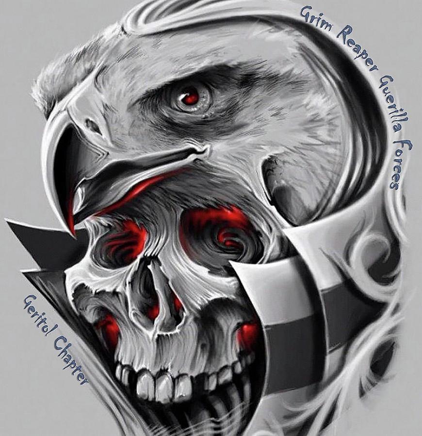 Patriotic Digital Art - Grim Reaper by John Bates