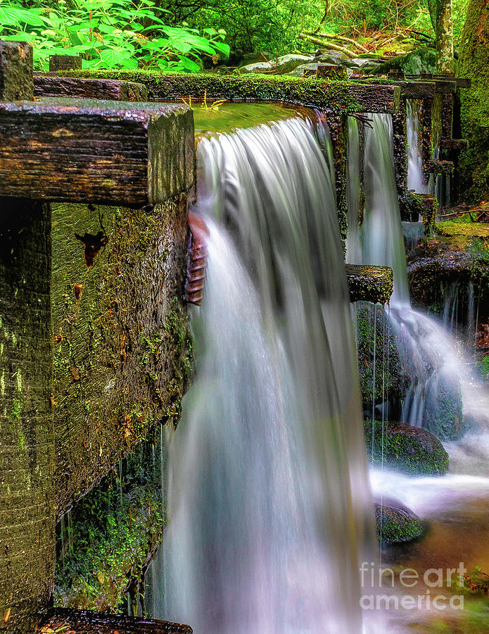 Grist Mill Water Flume Photograph