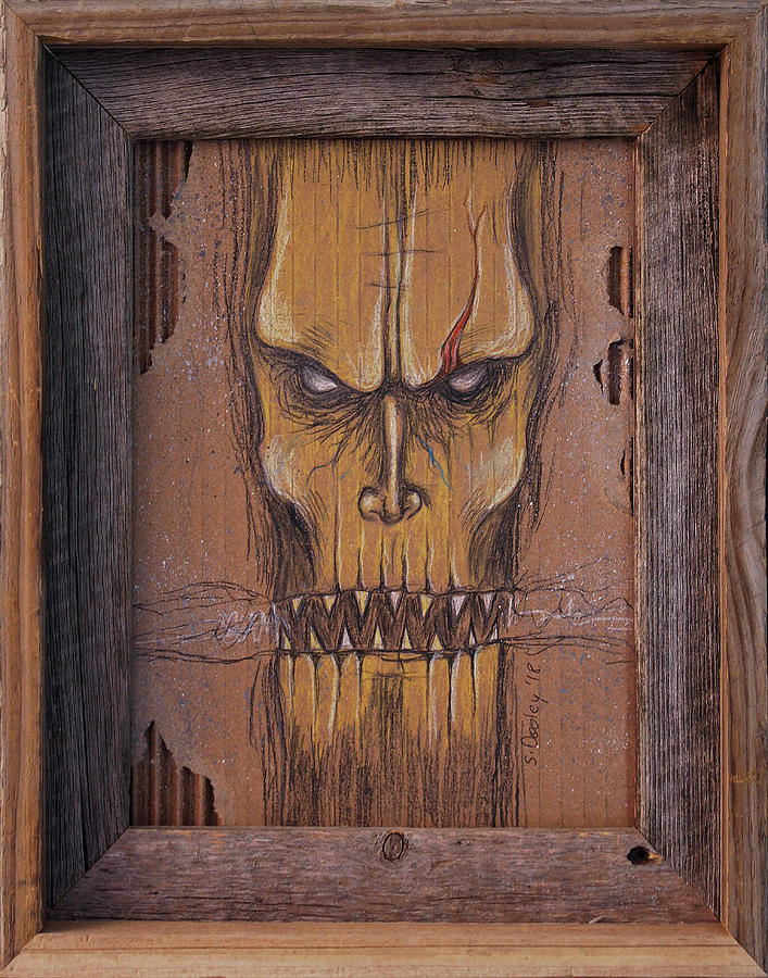 Rustic Drawing - Grit by Shawn Dooley
