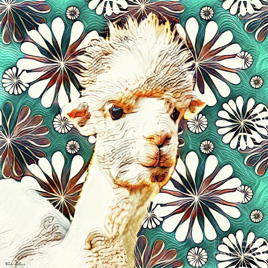 Groovy Alpaca Digital Art