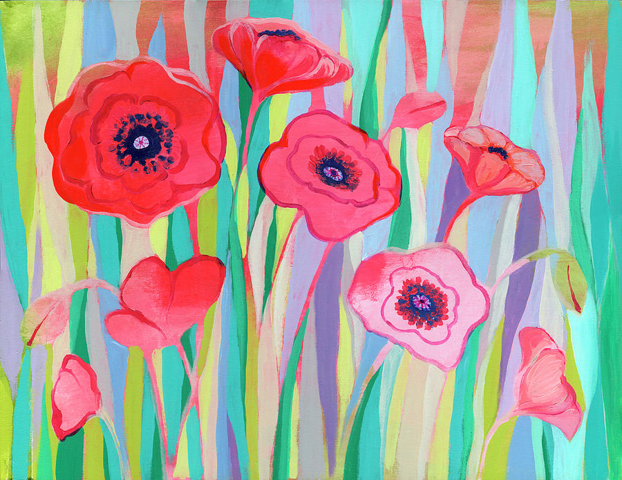 Groovy Poppies Painting
