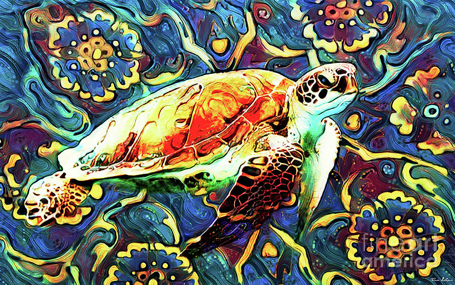 Groovy Turtle Digital Art