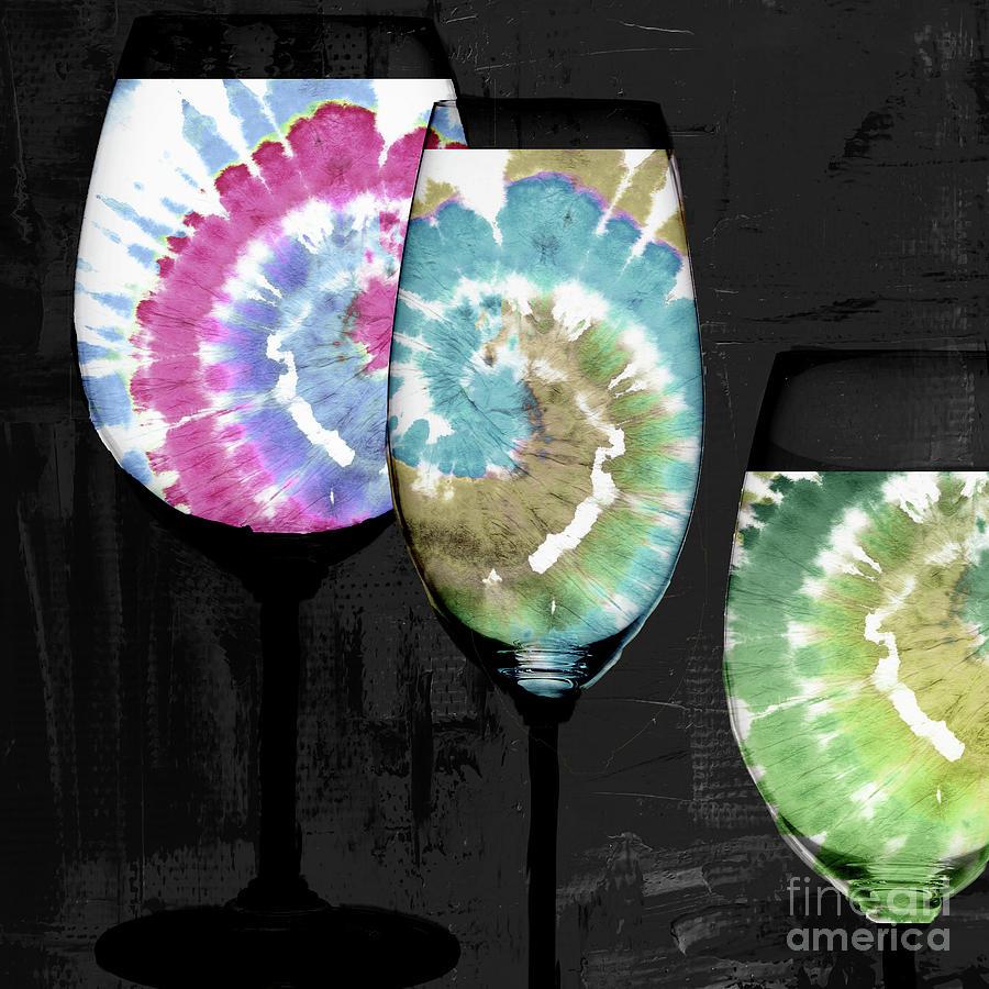 Groovy Wine Glasses Painting