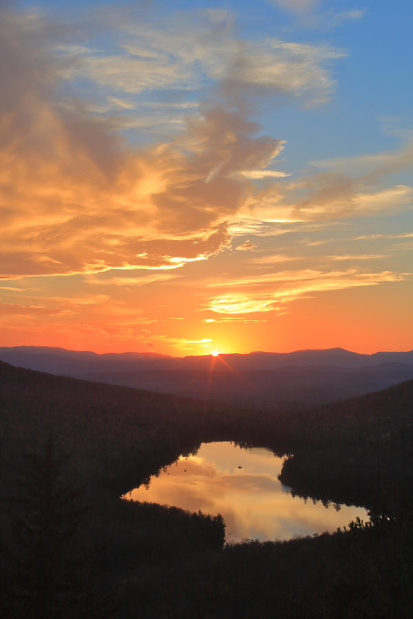 Groton State Forest Owls Head Sunset Photograph