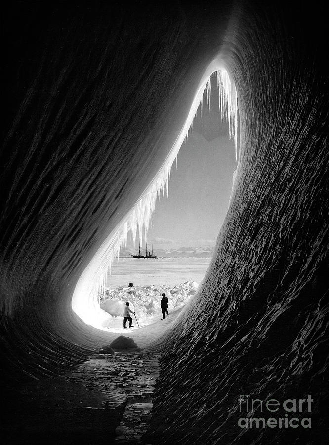 Grotto in an Iceberg - 1911 by Herbert Ponting