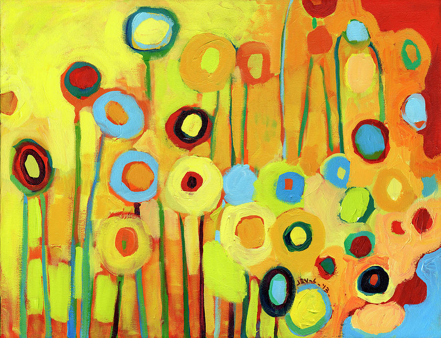 Growing In Yellow No 4 Painting