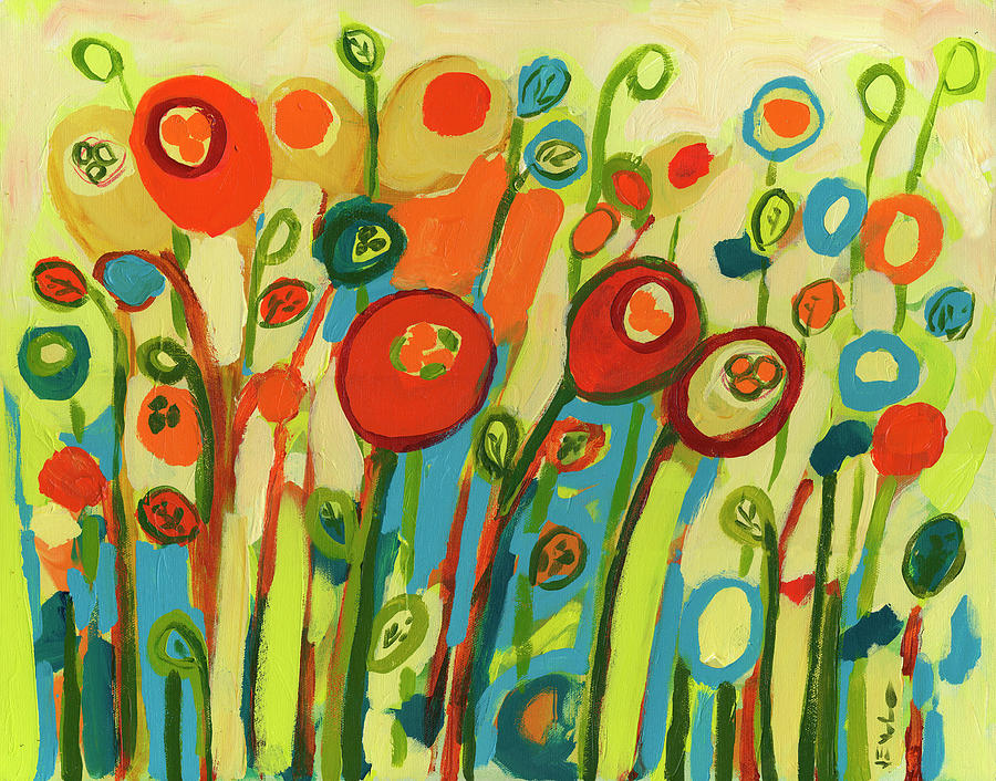 Growing Poppies Painting