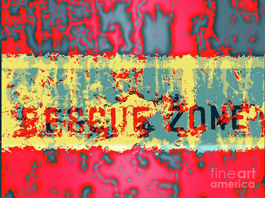 Grunge Background with Fading Words by Yali Shi
