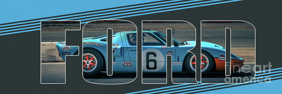 Ford Photograph - Gt40 Cutout by Darrell Foster