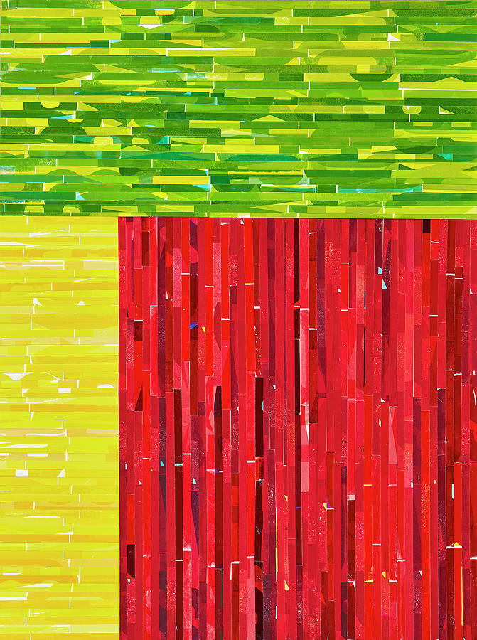 Abstract Mixed Media - Guacomole, Fire-roasted Salsa And Sweet Corn Cake by Color Bliss