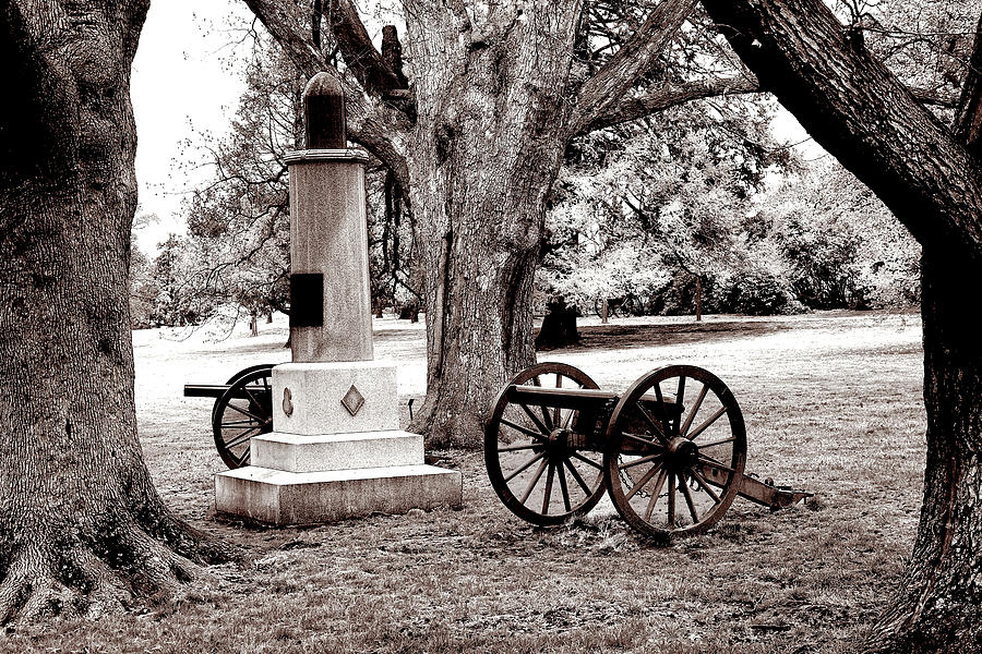 Guarding The Grave - Infrared Photograph
