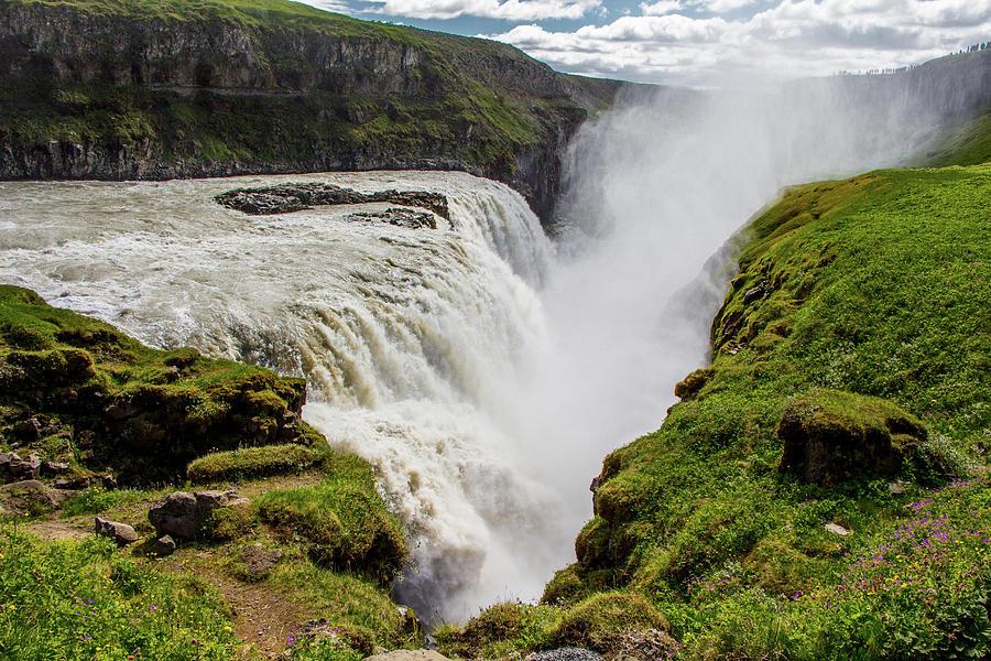 Gulfoss Photograph - Gulfoss Waterfall, Iceland by Venetia Featherstone-Witty