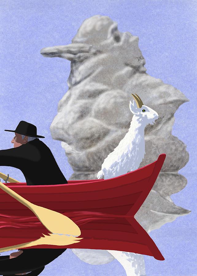 Animals Digital Art - Gull Rock by Tom Dickson