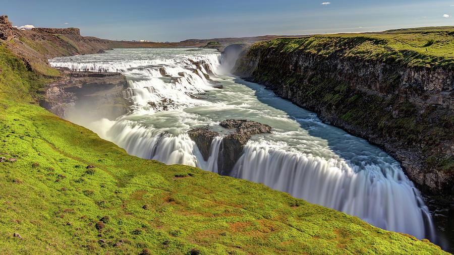 Gullfoss Waterfall Iceland Photograph