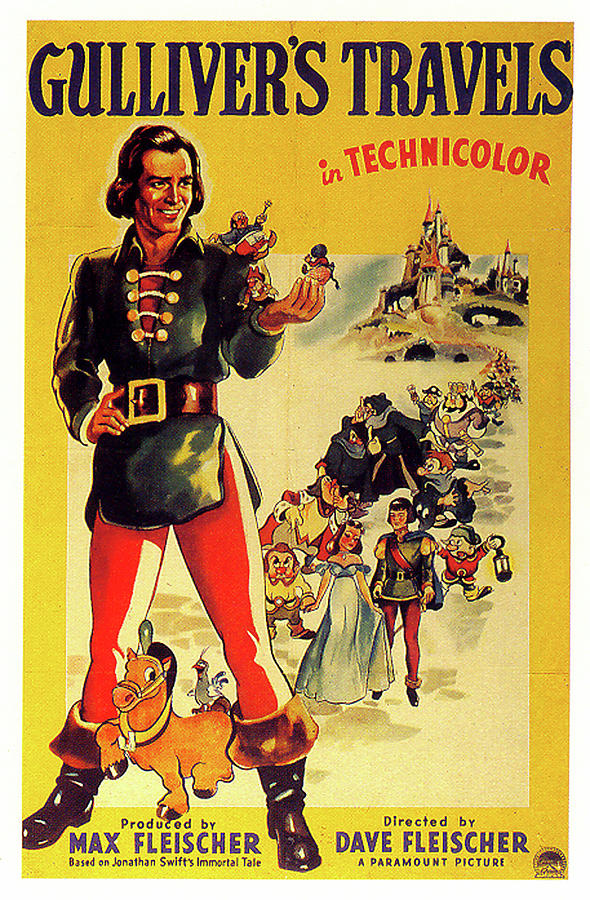 Gullivers Travels Poster 1939 Mixed Media