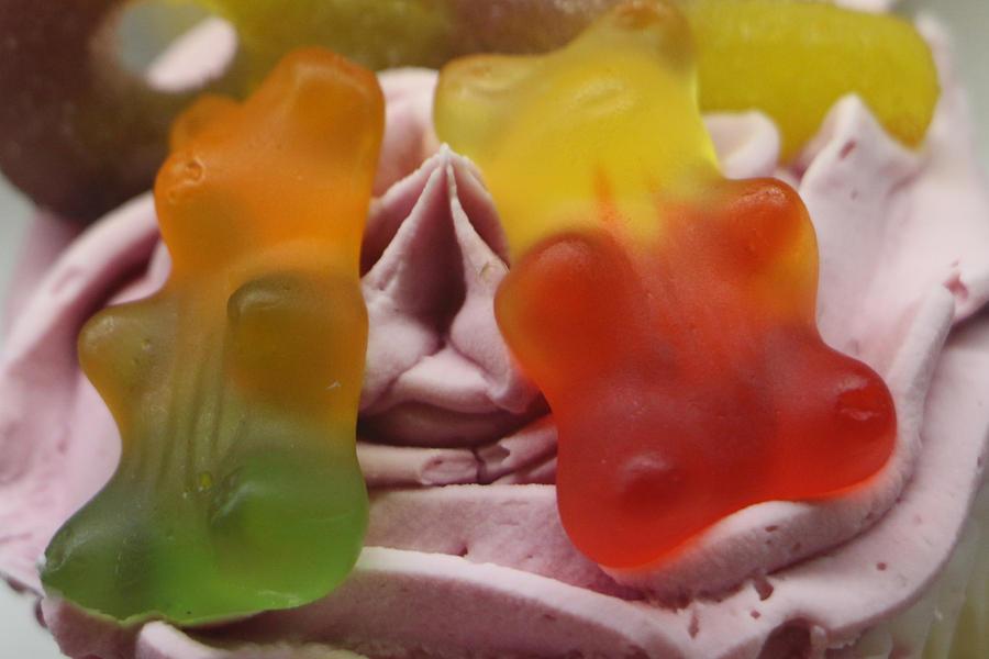 Gummy Bears Cupcake by The Art Of Marilyn Ridoutt-Greene