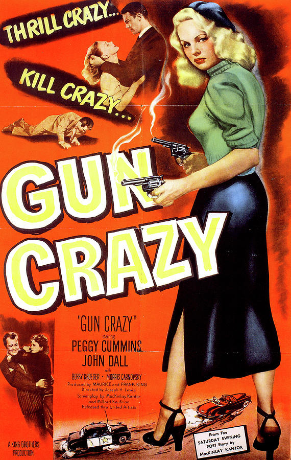 gun Crazy Movie Poster Mixed Media