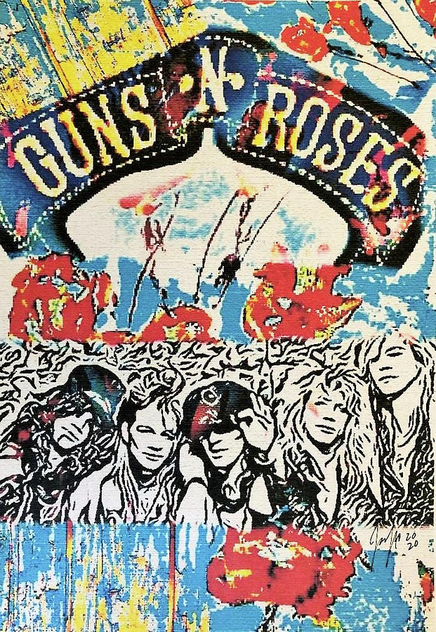 Guns N Roses Truth in Color by Jayime Jean