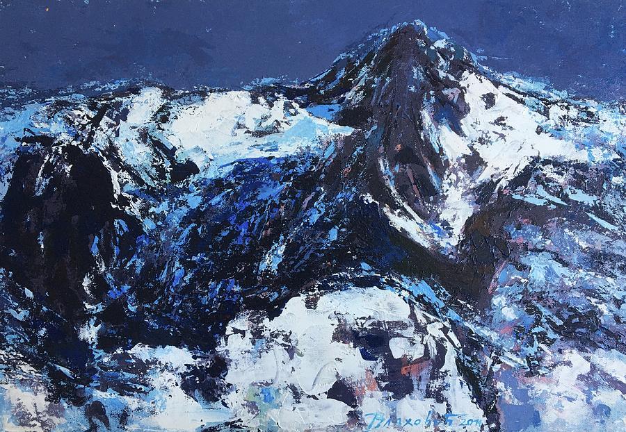 Landscape Painting - Gustav Mahler - ALPS by Vladimir Vlahovic