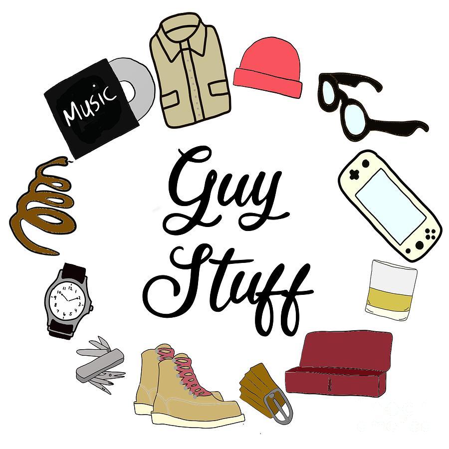 Guy Stuff Icons Digital Art