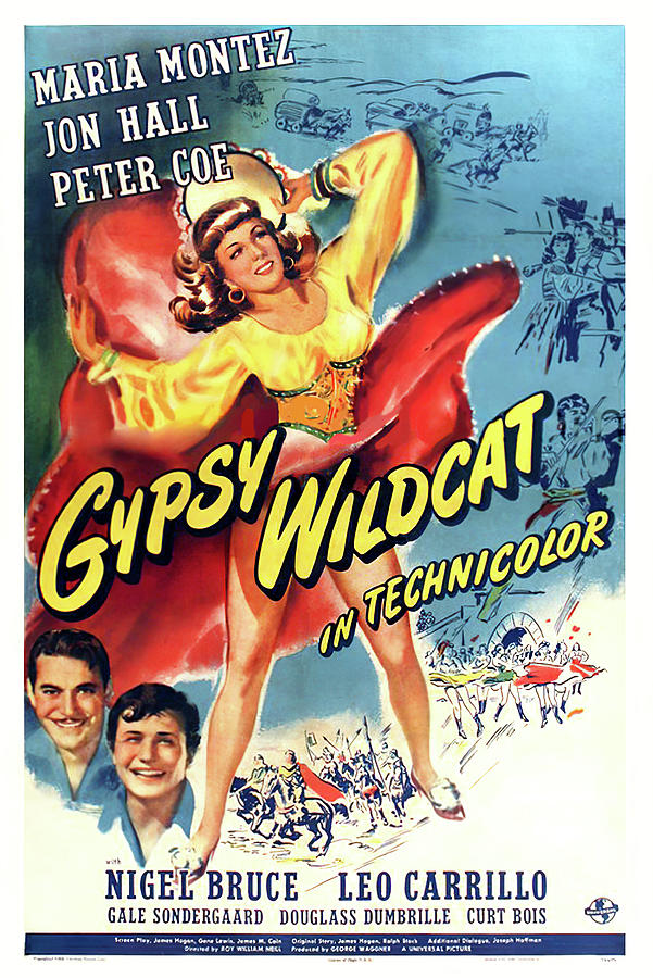 gypsy Wildcat, Maria Montez, 1944 Mixed Media