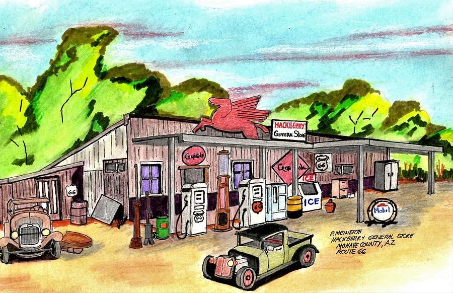 Hackberry General Store Drawing