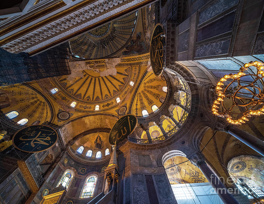 Hagia Sophia Mosaic of the Napse by Mike Reid