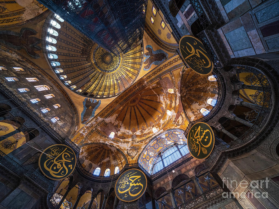 Hagia Sophia Nave and Mosaics by Mike Reid