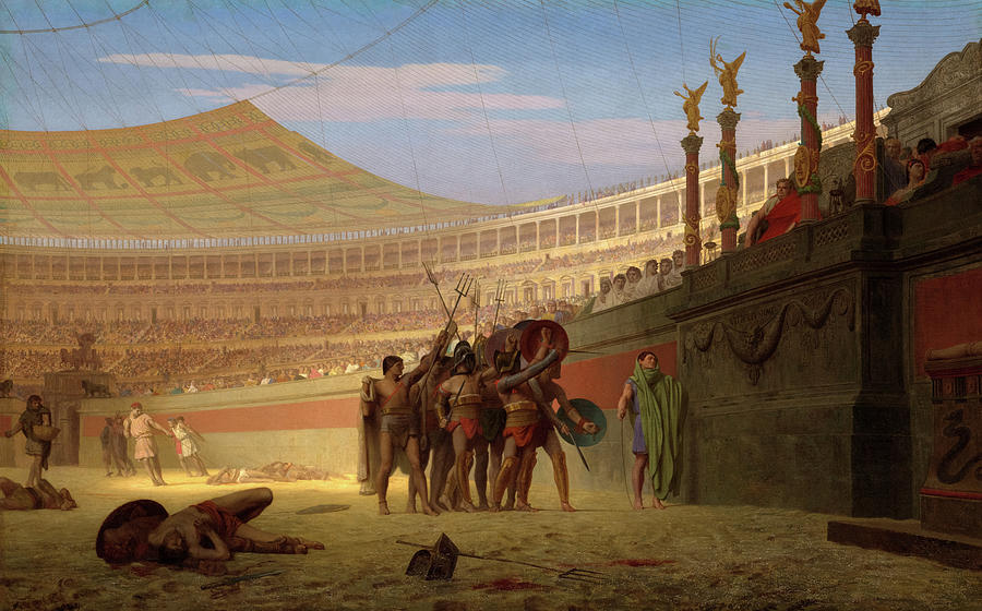 Jean-leon Gerome Painting - Hail Caesar, We Who Are About To Die Salute You, 1859 by Jean-Leon Gerome