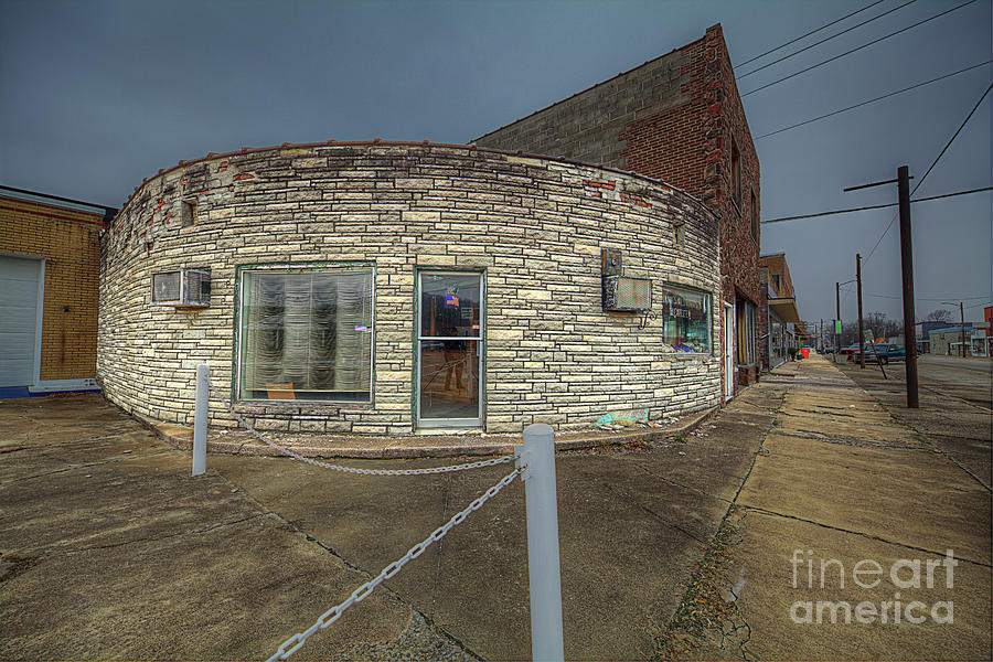 Observing Photograph - Half Circle Building  by Larry Braun
