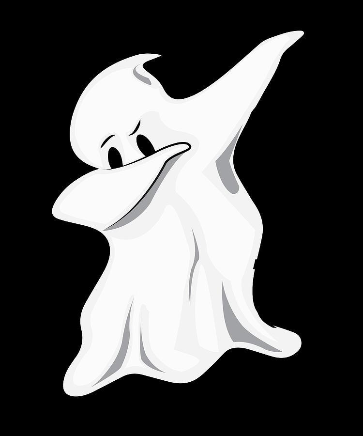 Halloween Costume Ghost Dabbing Ghost Digital Art by Steven Zimmer