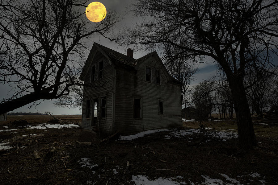 October Photograph - Halloween Moon by Aaron J Groen