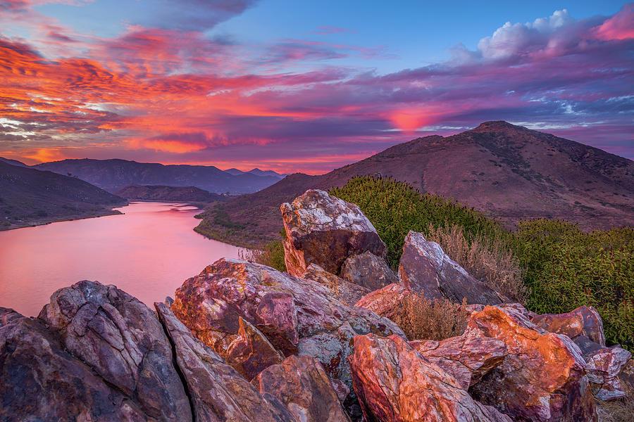 Rancho Bernardo Photograph - Halloween Sunset, Bernardo Mountain by Alexander Kunz