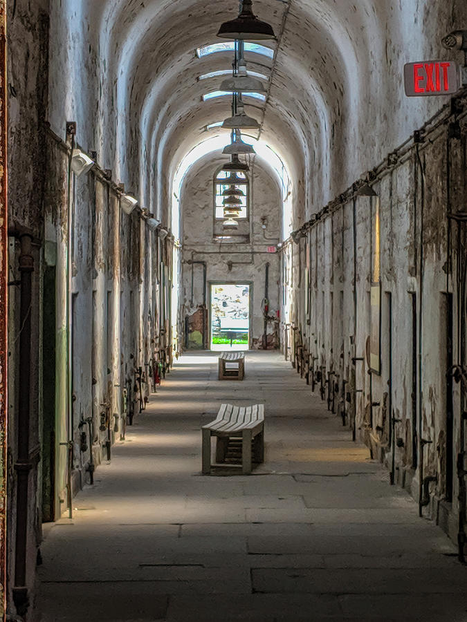 Cell Block Hallway, Eastern State Penitentiary by Ronald Santini