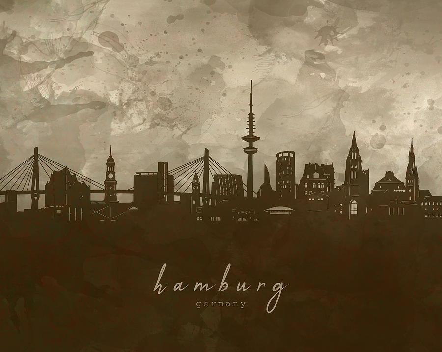 Hamburg Skyline Panorama 4 Digital Art
