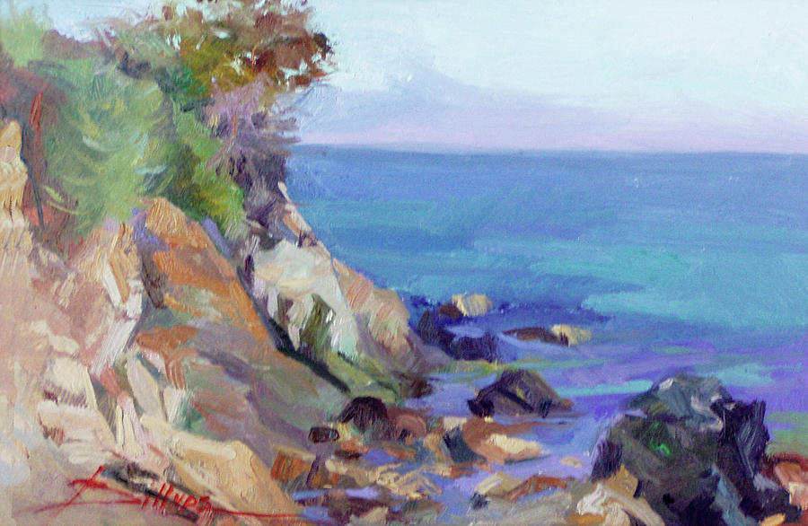 Hamilton Cove Catalina Island Painting by Betty Jean Billups