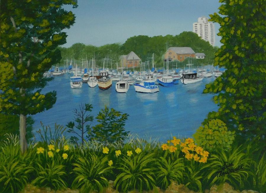 Harbour Painting - Hamilton Harbor by Lisa MacDonald