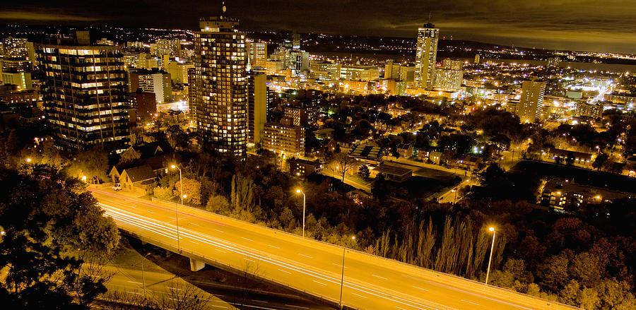 Hamilton, Ontario from the atop the escarpment. Photograph by Hans Neleman