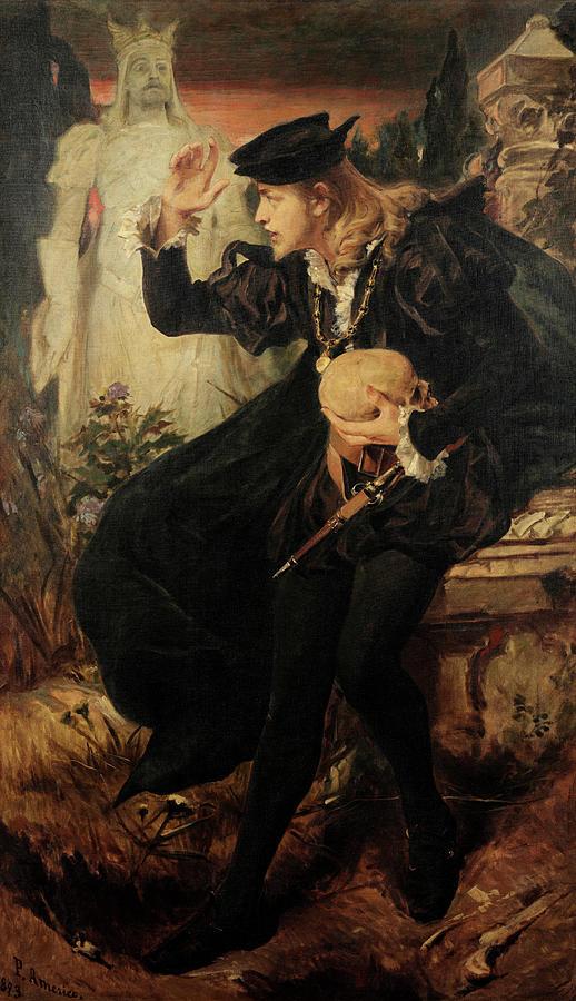 Americo Painting - Hamlets Vision, 1893 by Pedro Americo