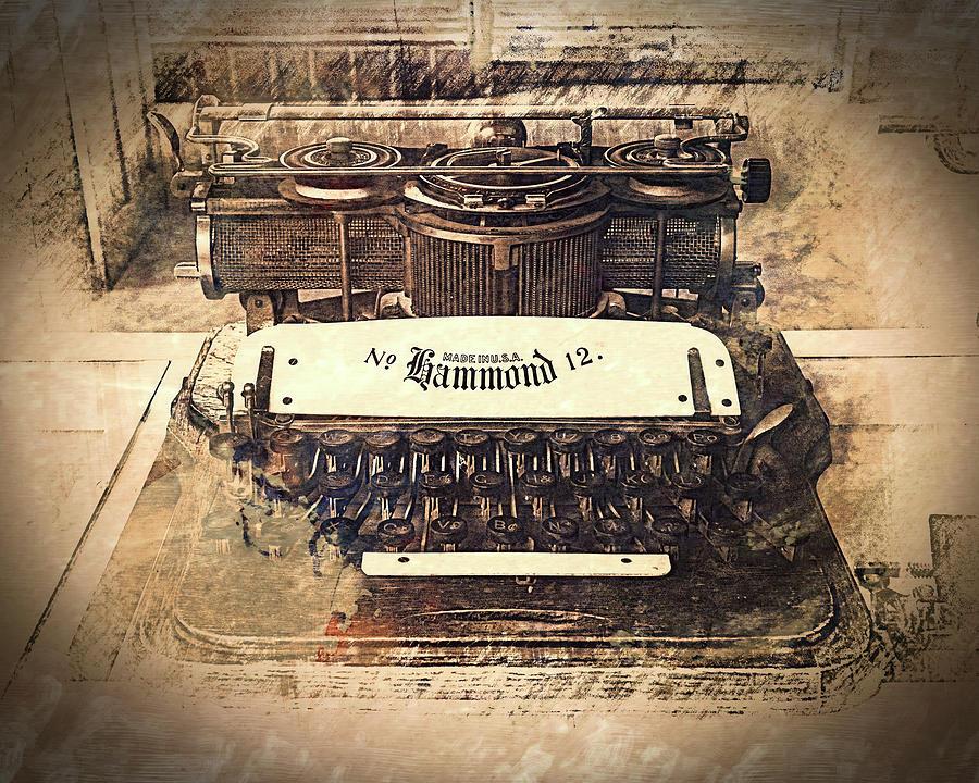 Hammond 12 Typewriter Photograph