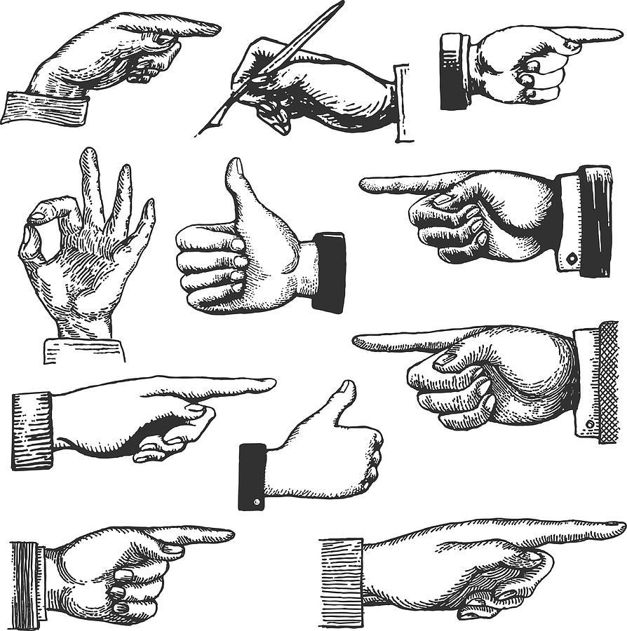 Hand Drawings Drawing by Mishkom