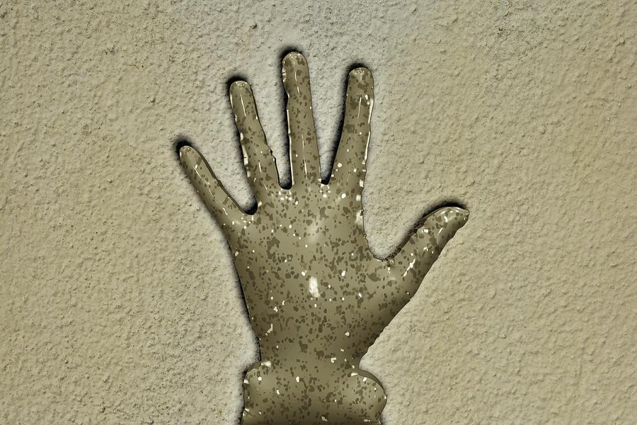 Hand Digital Art - Hand Stop to Plastic by Mavicfe Victoria