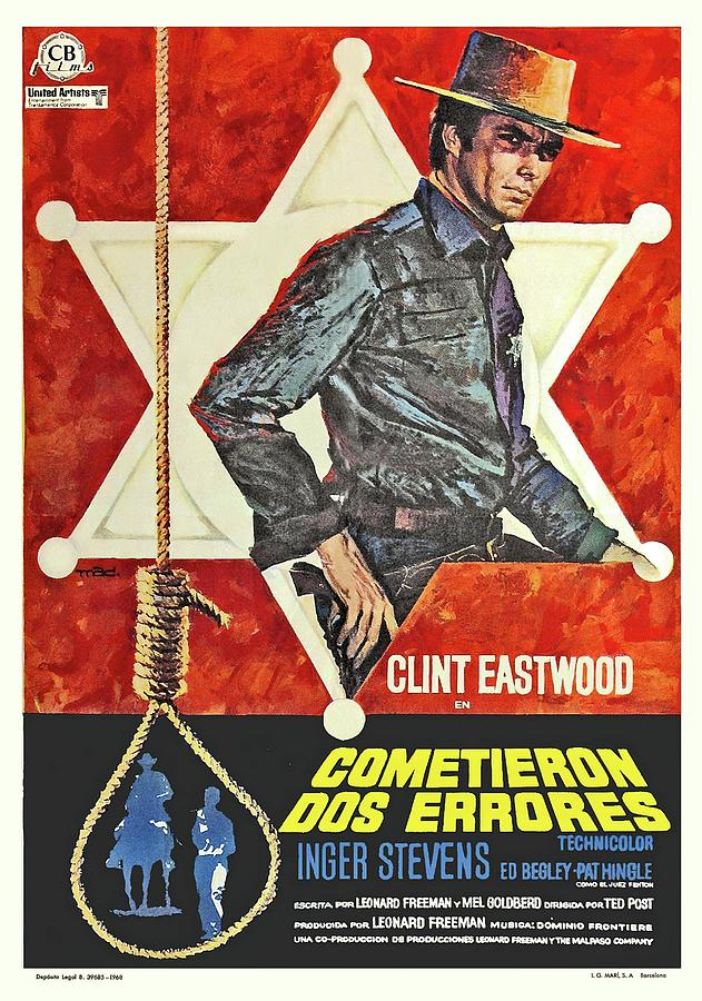 hang em High, With Clint Eastwood, 1968 Mixed Media
