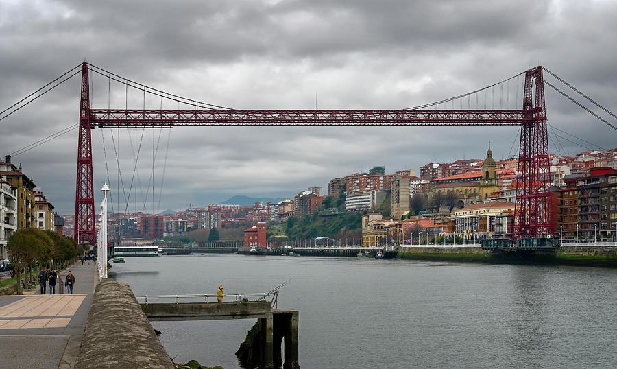 Hanging Bridge Near Bilbao Spain IIi Photograph