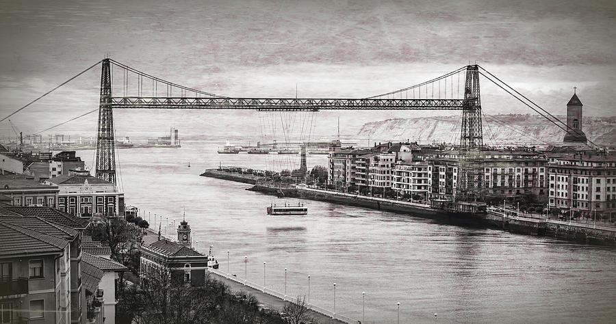 Hanging Bridge Near Bilbao Spain Photograph